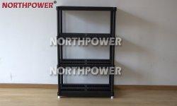 4 Tier Heavy Duty Plastic Shelves, 18 Inch Plastic Shelf Black