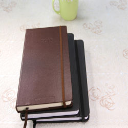 Factory Direct Sale Notebook with PU Leather Customized