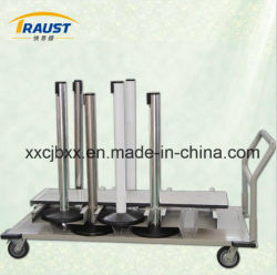 High Quality steel Powder Coating Barriers Delivery Trolley