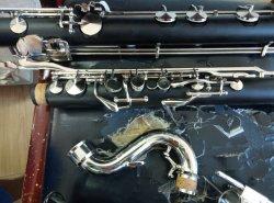Bass Clarinet / Professional Good Quality Ebony Wood Bass Clarinet/Low C Clarinet