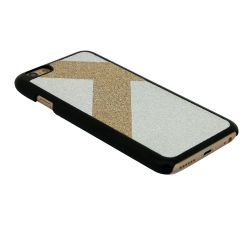 T Design PC Paste PU Mobile Phone Case for iPhone 7&8-White&Gold