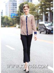 Wholesale Designer Women Ladies Fashion Spring Summer Silk Long Sleeve Blouse Shirt