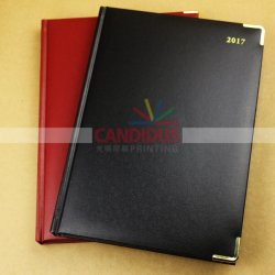 Customized Big Notebook Diary Book with Gold Edge