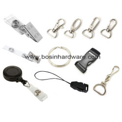 Outdoor Tactical Keychain Lanyard with Black Gun Snap Hook