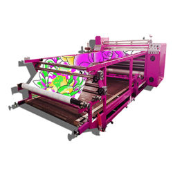 Oil Heating System Roller Textile Sublimation Printing Machine / Roll to Roll Transfer Heat Press Machine
