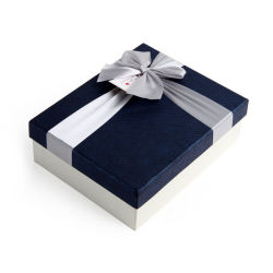 Nice Paper Cardboard Packaging Storage Chocolate Gift Box with Ribbon Tie