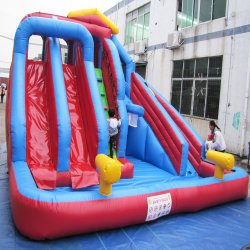 Portable Kids Inflatable Water Slide with Pool Inflatable Toy
