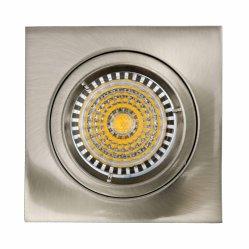 Die Cast Aluminum GU10 MR16 G5.3 Square Satin Nickel Fixed Recessed Halogen LED Lamp (LT1101)