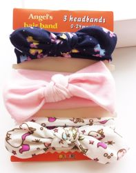2017 Wholesale Ribbon Bowknot Cotton Hair Band Hair Band Fashion Baby Hair Accessories