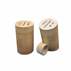 Natural Bamboo Knife Block Stand - Wood Holder Space - Saver Tools Organizer for Kitchen