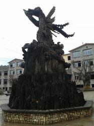 Ebony Wood Root Carving Sculpture Hotel Furniture
