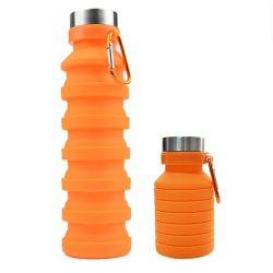 Manufacturer Eco-Friendly BPA Free Collapsible Silicone Drink Sports Water Bottles