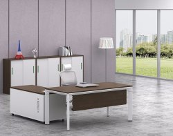 White Customized Metal Steel Office Staff Table Frame with Ht93-1