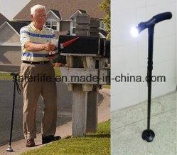 2018 New Product Saferlifer Red Aluminum Foldable Walking Cane with LED Light Walking Stick