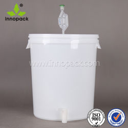 30L Wine Bucket Virgin PP Plastic Pail with Lid and Sprayer for Wine Packaging