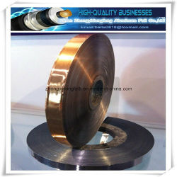 Heat Sealed Adhesive Copper Polyester Tape for Cable