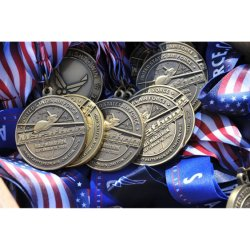 Cheap Metal Blank Ribbon Hanger Gold Silver Bronze Sports Medals Custom Trophy Medal