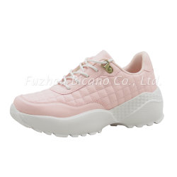 Bia19L-286 Lady Casual Sport Shoes Trainer Sneaker Chunky Sole Light Weight
