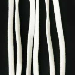 Hot -Selling KN95 Elastic White 5mm Flat Earloop