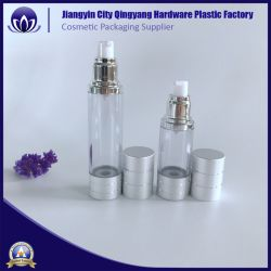 in Stock 15ml 30ml 50ml Liquid Cream Cosmetic Bottle Airless Bottles with Sliver Pump/Spray Cap