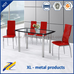 Factory Wholesale Modern Glass Top Dining Table