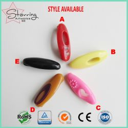 Islamic Garment Accessories Assorted Colors Oval-Shaped Plastic Scarf Hijab Safety Pins for Muslim