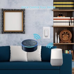 Smart WiFi Light Switch APP Control From Anywhere, Works with Alexa Google Assistant Home, Timing Schedule Overload Protection Neutral Wire Required One-Way