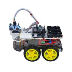 Line-Track Obstacle Avoidance Anti-Drop Smart Car Robot Kit for Stem Education