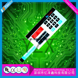 Factory Supply Pet Membrane Switch Keyboard with Medal Dome