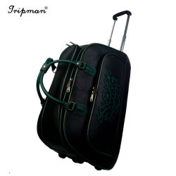 PU Leather Duffel Gym Fitness Bag with Wheels Sports Bags