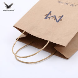 Customized Printing Brown Fast Food Paper Bags with Handles Wholesale