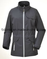 Women's Softshell Outdoor Clothes Long Outerwear