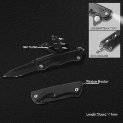 Multi-Function Survival Knife with Flashlight (6223)