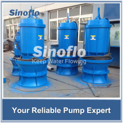 Flood Control Large Capacity Axial/Mixed Flow Submersible Dewatering Pump