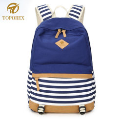 fancy strip attractive junior student school backpack bag for teenagers