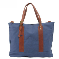 Women's Leather Water Proof Canvas Shoulder Tote Bag (RS-2096)
