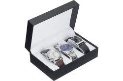 New Quality Sport Waterproof Wholesale Silver Man Watch Set