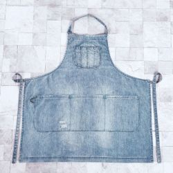 Cotton Washed Denim Workwear Apron Work Clothes