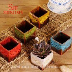 Flambe Glazed Ceramic Small Flower Pot, Bonsai Pots Wholesale