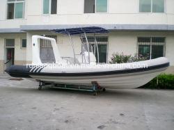 China Boat Factory 6.8m/22 Feet Rib Boat Rigid Inflatable Sport Boat Rib Fishing Boat