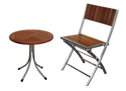 Stainless Steel Outdoor Furniture Dining Chair Table Set