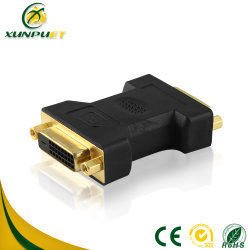 Custom Portable Data 24pin Connector DVI Male to HDMI Female Adaptor