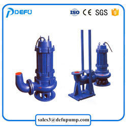Non-Clog Submersible Sewage Dirty Water Pump with High Temperature