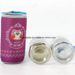 Cartoon Covered Glass Bottle Sport Glass