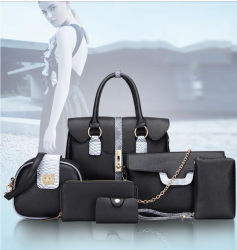 OEM Snake Texture Six-Piece Genuine Leather Ladies Handbag Wholesale If You Need to Customize Please Contact Us