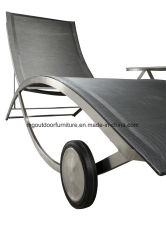 Outdoor Beach Furniture Stainless Steel Sun Loungers Armless