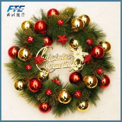 Custom Artificial Ornament Festival Christmas Garland Wreath