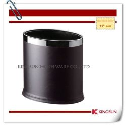 Black Color Home Wastebasket Without Cover Db-736b