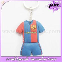 Colorful Custom Sports T-Shirt PVC Keychain Ring