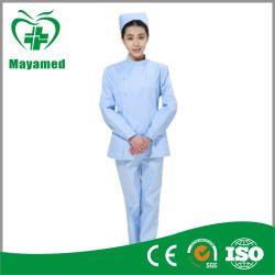 My-Q007 Female Nurse Blue Uniform Nurse Overalls in Hospital